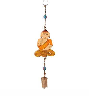 Wooden Hanging Buddha With Bell