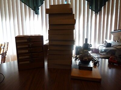 Vintage Kingsley M-60 Hot Foil Stamping Machine W/ Lots of Accessories Great Lot