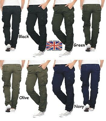 Womens Twill Military Pants Ladies Combat Cargo Trouser & New Girl Pants UK 8-16