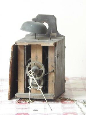 Antique Black Forest Wag on the Wall Clock Movement & Hands for Spares or Repair