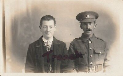 Worcestershire Regiment Soldier and Son?, clear high gloss image.