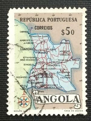 134.angola ($50)  Used Stamp Maps .