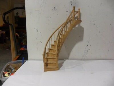 Wood Doll House Spiral Stairs .