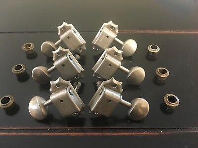 Vintage 1966 3+3 Kluson deluxe double line tuners removed from Mosrite guitar