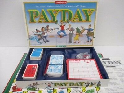 Pay Day Family Fun Board Game by Waddingtons 1994 Complete Payday Board Game