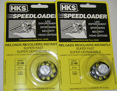 2 Pack HKS 22-HR Speed Loader 22 LR H&R 9 Shot, Taurus 94