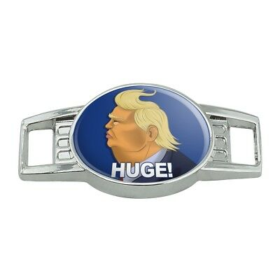 Huge! Trump Caricature Hair Funny Shoe Shoelace Tag Runner Gym Charm