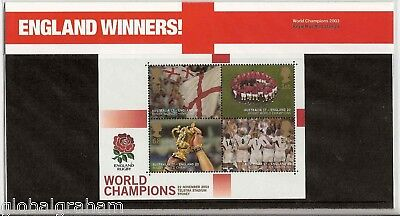 2003 Rugby World Cup M/sheet England Winners Royal Mail Presentation Pack