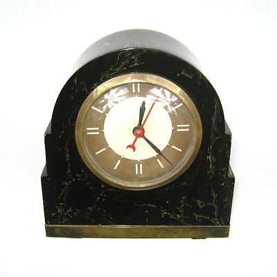 Fantastic Lackner NEON Glow Clock  Catalin Bakelite Dark Green