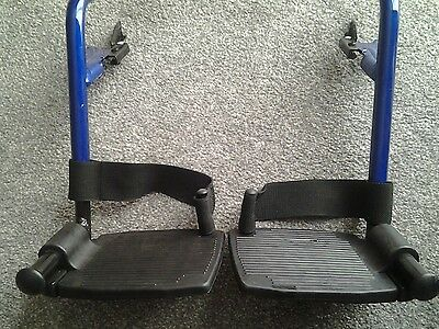 Invacare Alu Lite Wheelchair  Footplates and Hangers - Parts A PAIR