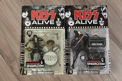 TWO McFarlane Toys Super Stage Figures Kiss Alive: The Demon & The Catman