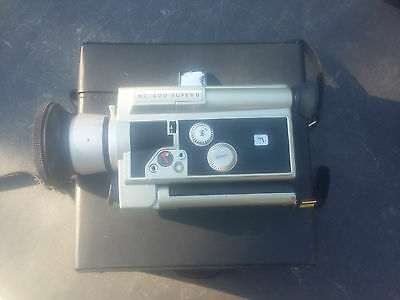 VINTAGE CAMERA CINEMAX super 8 objectif F: 8.5-35 1:18- sacoche originale manuel