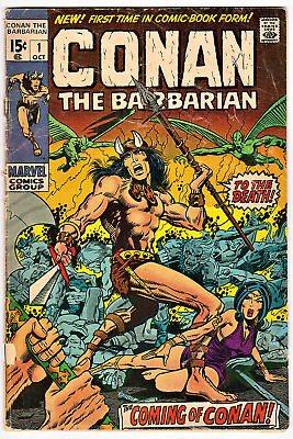 CONAN THE BARBARIAN #1 COVERLESS 1st Appearance Marvel comic Oct.1970