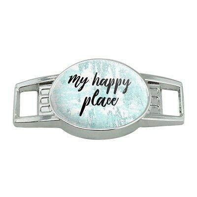 My Happy Place Shoe Shoelace Shoe Lace Tag Runner Gym Charm Decoration