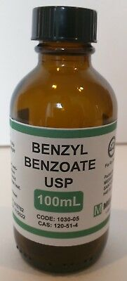 Benzyl Benzoate USP 100mL Human Grade for Pharmaceutical Compounding