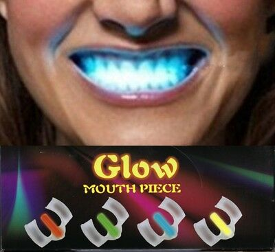 Glow in the Dark Mouthpiece - Light up Your Teeth -  Coloured - Stocking Filler