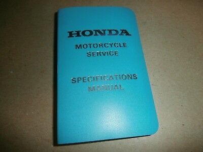 Vintage 1974 Honda Motorcycles Service Specifications Pocket Manual
