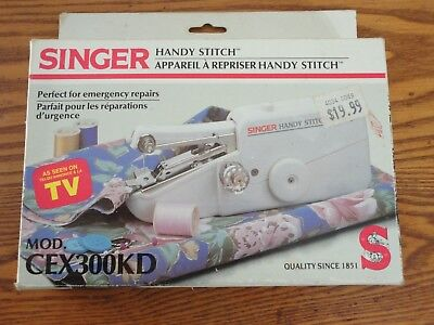Singer Mini Mender CEX300K Handheld Battery Operated Sewing Machine Handy Stitch