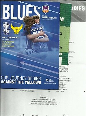 11.8.2017 BIRMINGHAM CITY LADIES v OXFORD UNITED, Cont.Cup + Teamsheet & Ticket!
