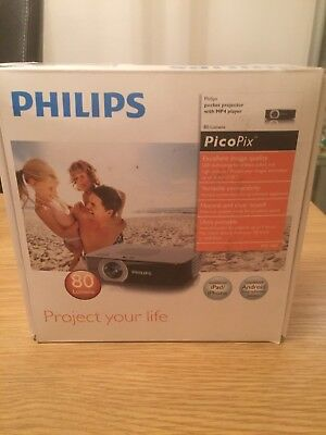 Philips PicoPix LED PPX2480 Projector Comp. iPhone, iPad, Android