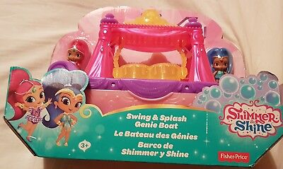 Shimmer & Shine - Swing and Splash Genie Boat Set - Brand New