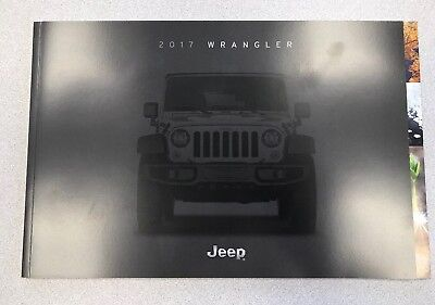 2017 Jeep Wrangler Original Sales Brochure