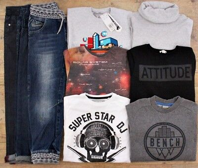 River Island Bench Next Boys Bundle Outfit Jeans Jumper Top T-Shirt Age 9-10 Y