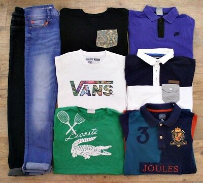 Lacoste Joules Vans Nike River Island Next Boys Bundle Jeans Jumper Top 11-12 Y