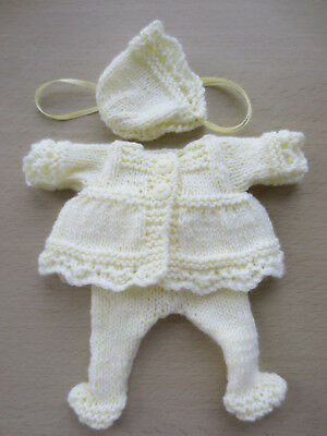 """Hand Knitted 6"""" Reborn Baby Doll Set."""