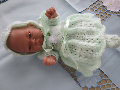 """Hand Knitted 10"""" Reborn Baby Doll Set."""