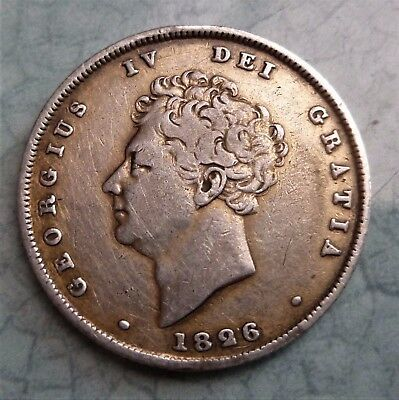 1826 George Iv Silver Shilling, Very Nice 190 Year Old Coin