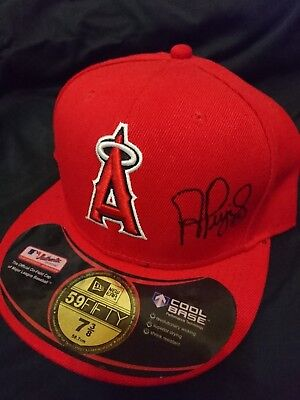 Albert Pujols auto Los Angeles Angels New Era 59FIFTY Hat MLB Authenticated