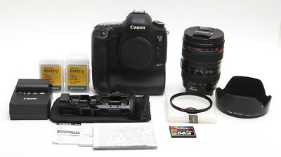Canon EOS 5D Mark III 22.3 MP Digital SLR + 24-105mm f/4L IS + Grip, 64GB & More