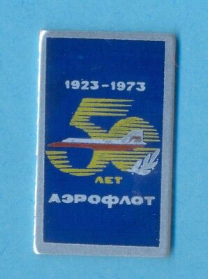 Careful Aeroflot Soviet Airlines 50th Anniversary Badge Collectibles
