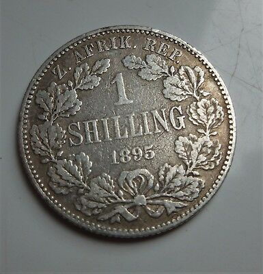 1895 South Africa Shilling (Scarce Date, High Value)