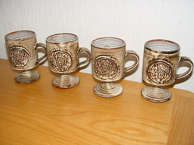 Briglin mugs with a thistle design motif