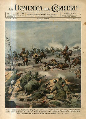 1942 Donez Russian Cossacks try to overwhelm position held by Italian troops