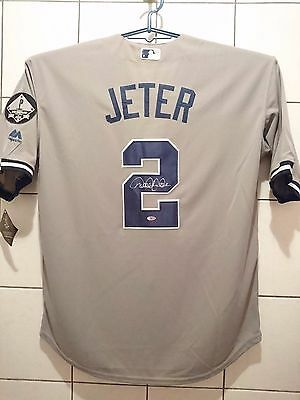 Derek Jeter signed New York Yankees Jersey Steiner hologram