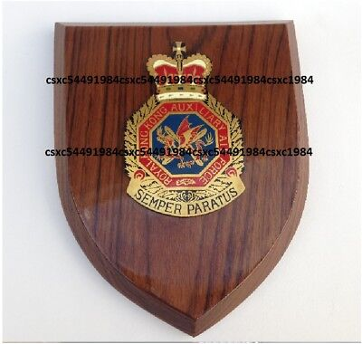 Collectible Royal Hong Kong Auxiliary Air Force Dept wooden plaques, pre-owned