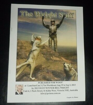 [APH Bill Wright sf fanzine THE WRIGHT STUFF 2 issues 2013