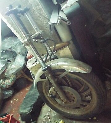 Yamaha TR1 Complete Front End. Fork assembly.