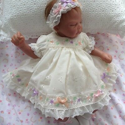 """** Miss Polly's Dollies Baby Doll's CLOTHES ** DRESS SET Fits 14"""" REBORN DOLLS"""
