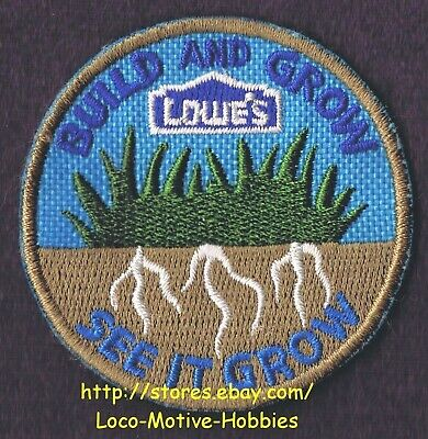LMH PATCH Badge SEE IT GROW Build Grow LOWES Kids Clinic Grass Roots Light Brown