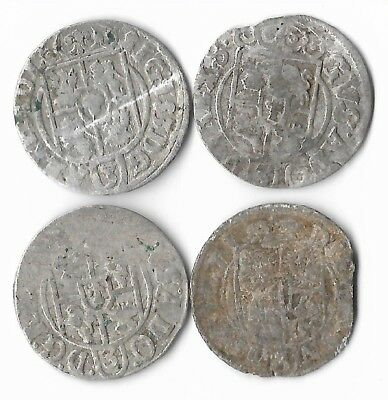 1620's Silver 1/24 Thaler Rare Very Old Antique Renaissance Medieval Coin Lot