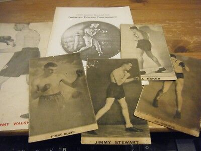 5  Early Card  Boxing Pictures  &   Gkn  Sankey   Boxing Programme    All Listed