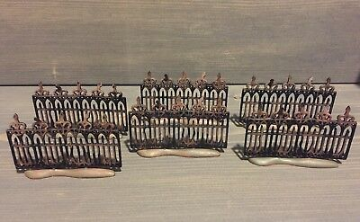 Department 56 Halloween village Set Of 6 metal fence sections Mint condition