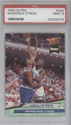 1992-93 Fleer Ultra 328 Shaquille O'Neal PSA 9 MINT Orlando Magic RC Rookie Card Verzamelingen