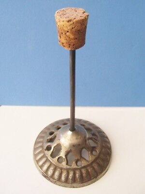Victorian Nickel Plated Heavy Base Cast Iron Hat Stand  * Short.