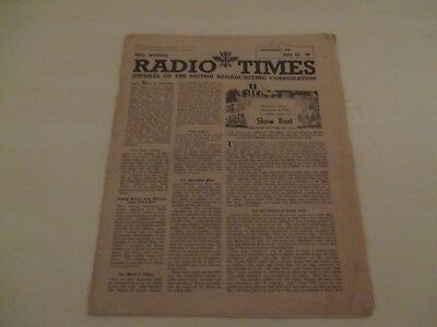 RADIO TIMES JULY 21st 1944 JOURNAL OF THE BRITISH BROADCASTING COMPANY BBC