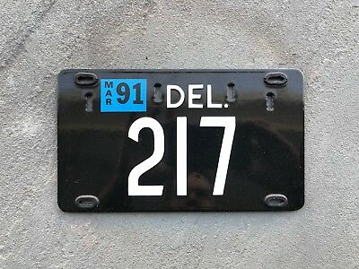 Delaware Low-Digit License Plate Tag
